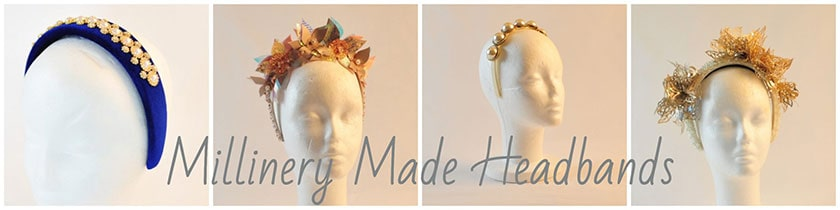 Millinery made headbands