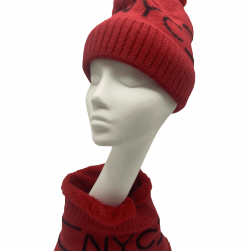 Red hat and snood set